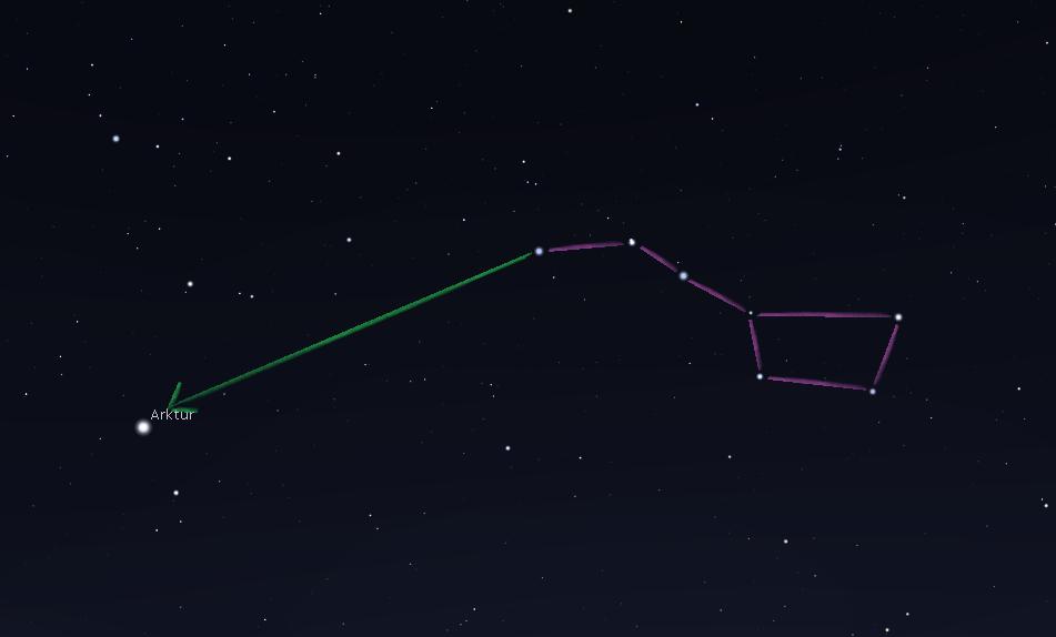 letnie niebo i jego najjaśniejsza gwiazda: Arktur