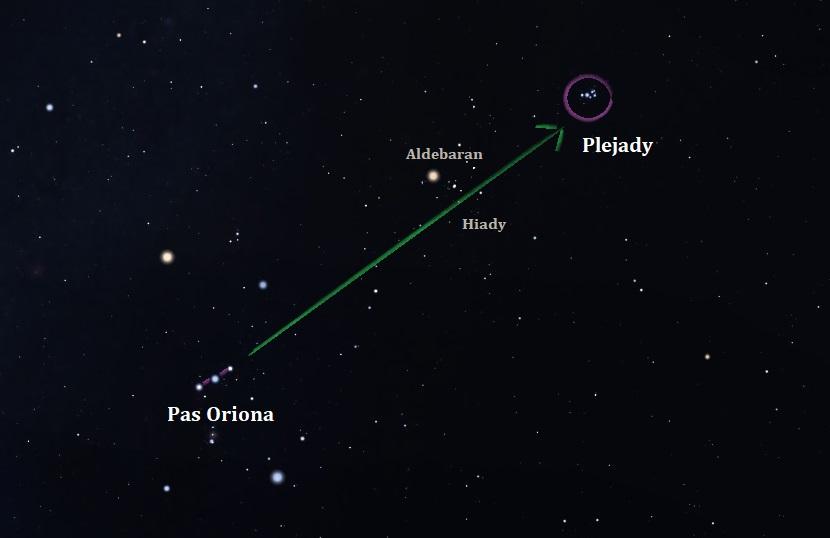 Pas Oriona a Plejady