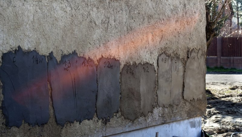 tynki gliniane - różne kolory
