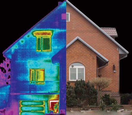 ciepły dom nie ma mostków cieplnych; wykryje je kamera termowizyjna